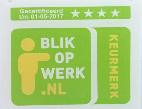 Oog voor werK: Foto overhandiging keurmerk Blik op Werk aan Hans Meyer ...